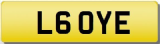 YE INITIALS  Private CHERISHED Registration Number Plate  OYE LLOYD LOVE